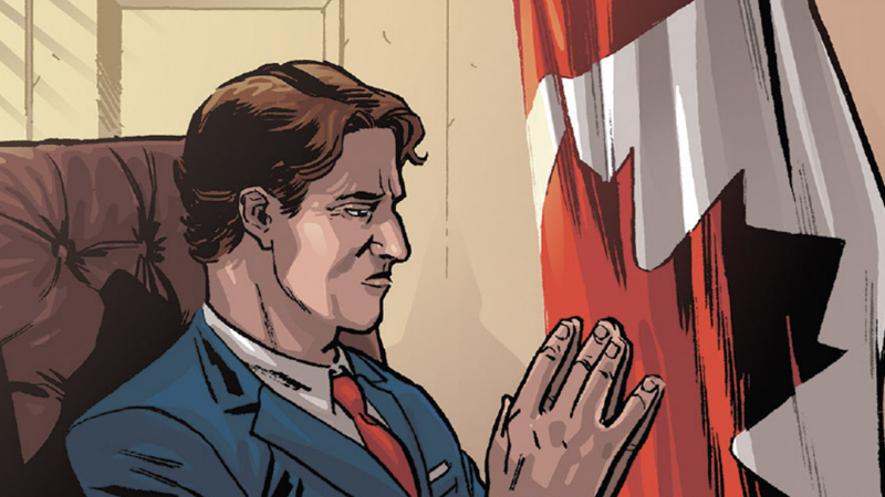 Illustration for article titled Justin Trudeau Just Showed Up to Dunk On Marvel's Civil War II