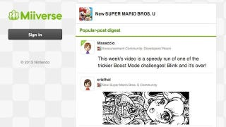 Illustration for article titled Nintendo Puts The Miiverse On The Web