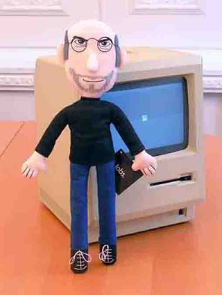 Illustration for article titled Plush STEVE JOBS! buy 500 and A MIRACLE WILL HAPPEN!!