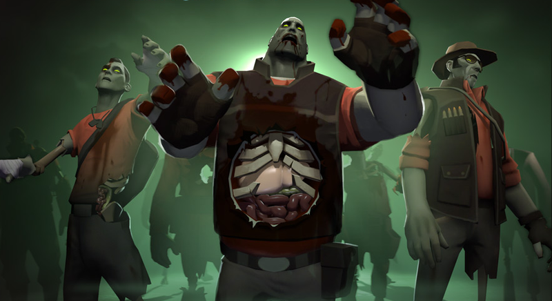 """Illustration for article titled Team Fortress 2 Gets Zombies in Halloween-Themed """"Scream Fortress"""" Event"""