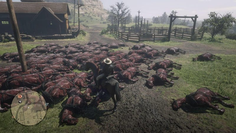 Red Dead Online Is Filled With Massive Piles Of Dead And