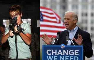 Illustration for article titled Debate Preview: 10 Things You Need To Know About Biden & Palin