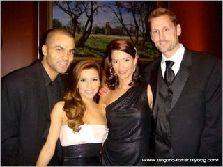 Illustration for article titled Eva Longoria Divorces Tony Parker Over Affair With Brent Barry's Wife, Reports Guy From Saved By The Bell And Other Journalists