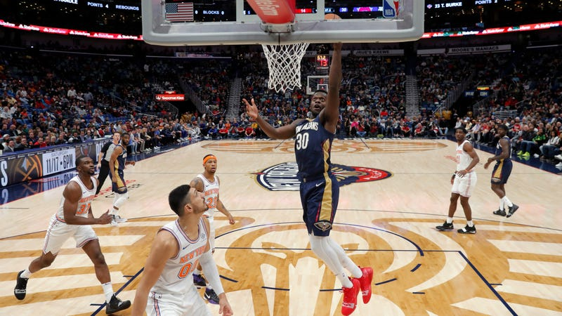 """Illustration for article titled Enes Kanter Calls Zion Williamson """"Overhyped,"""" """"Julius Randle With Hops"""""""