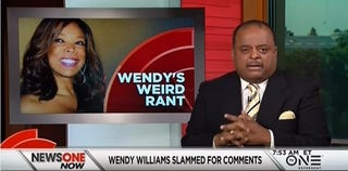 Roland Martin discussing Wendy Williams' take on HBCUs and the NAACPYouTube Screenshot