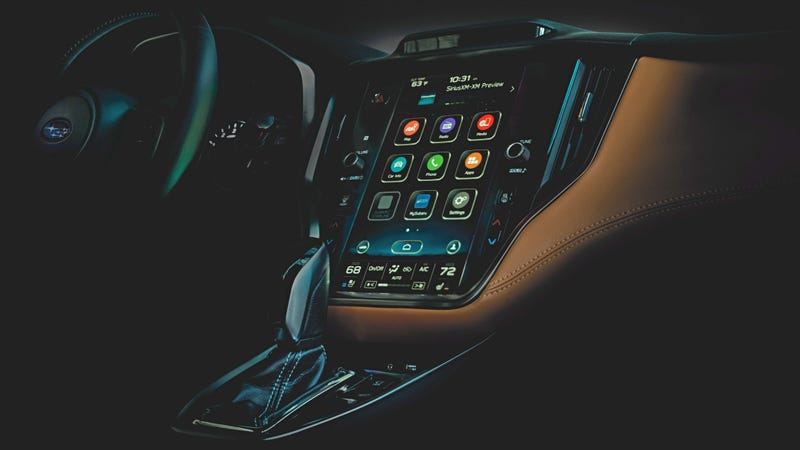 Illustration for article titled The 2020 Subaru Legacy Will Feature a Huge Infotainment Screen