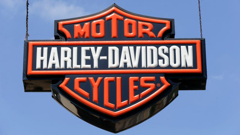 Dealership signs are at a Harley-Davidson dealership, Wednesday, April 26, 2017 in Glenshaw, Pa.(AP Photo/Keith Srakocic)