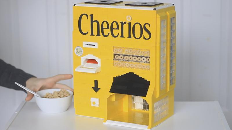 how to make a lego vending machine