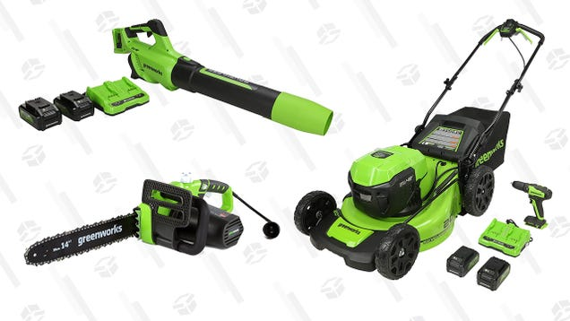 Start Your Spring Cleaning On That Unsightly Yard With up to 30% Off Greenworks Outdoor Power Tools