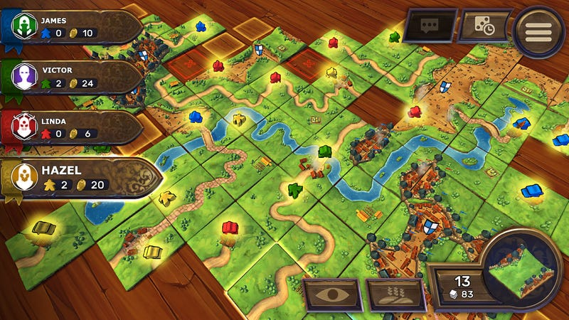 Illustration for article titled Asmodee Bringing Carcassonne, More Board Games To The Nintendo Switch