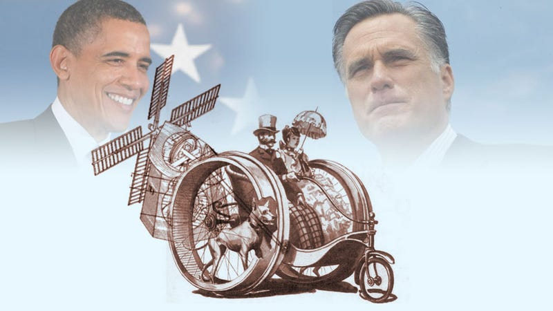 Illustration for article titled Barack Obama And Mitt Romney Are Both Wrong About Dog-Powered Windmill Cars