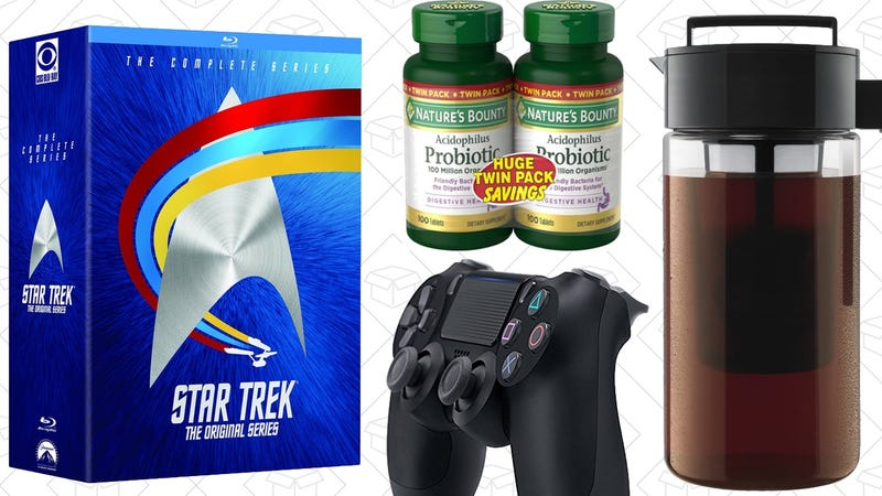 Illustration for article titled Today's Best Deals: Star Trek Box Set, Cold Brew Coffee, Vitamins Galore, and More