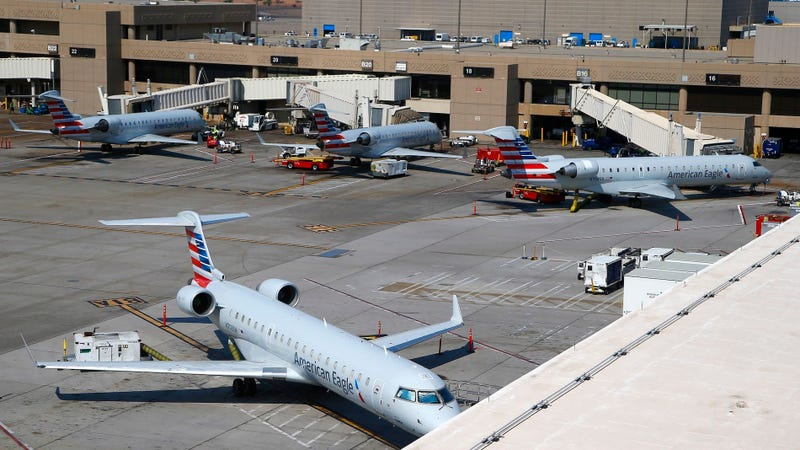 Planes sit at Sky Harbor International Airport in 2017