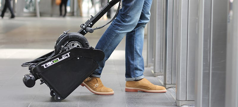 Illustration for article titled The World's Smallest Electric Vehicle Is More Compact Than a Carry-On