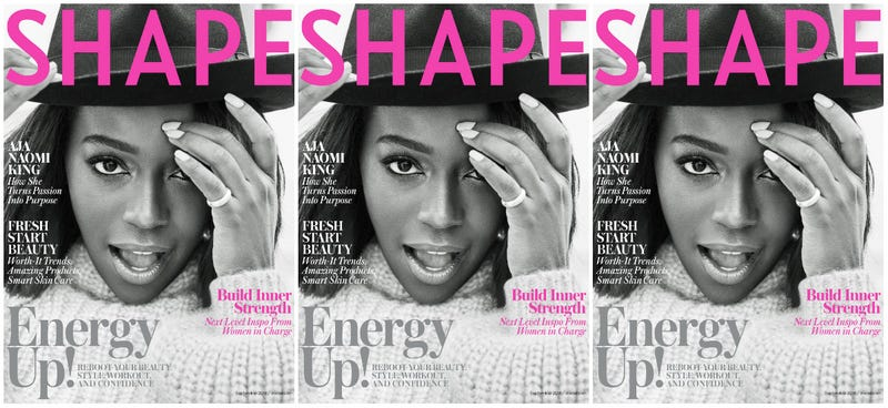 Illustration for article titled Aja Naomi King Gets Powerful for the Cover of Shape's September Issue