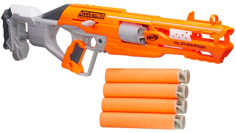 Illustration for article titled Nerf's New Accustrike Blasters Use Redesigned Darts For Improved Accuracy