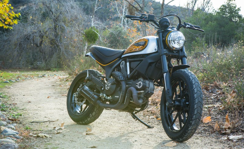 Illustration for article titled This Rad Ducati ScramblerCustomIs What You Get When You Mix Work And Love