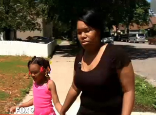 Ciare Mckenzie (right) has taken her daughter Jomyra out of Bancroft Elementary in Minneapolis after, she says, the school put Jomyra on the wrong bus home twice. Fox 9 screenshot