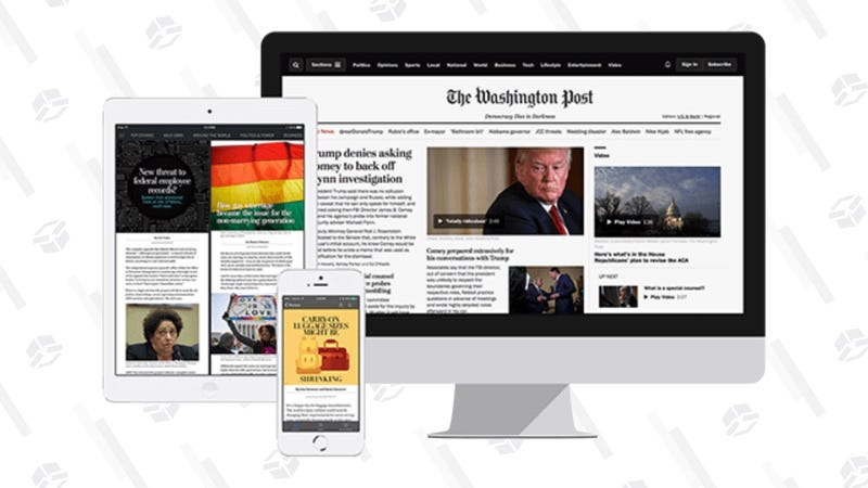 The Washington Post Free One-Month Trial or $59 Year Subscription   Amazon