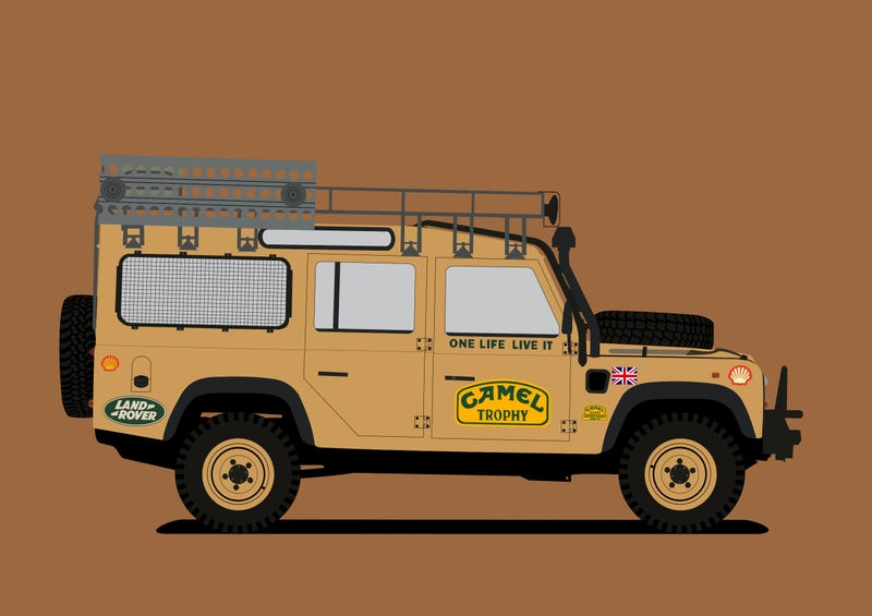 Illustration for article titled Land Rover Defender Camel Trophy
