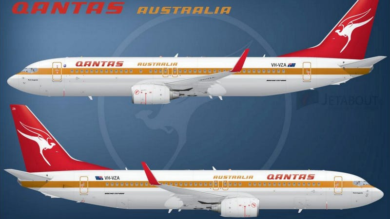 Illustration for article titled This Throwback Qantas Livery Is Retro Done Right