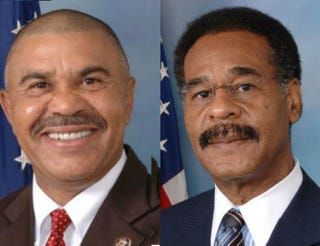 Rep. Lacy Clay (D-Mo.); Rep. Emanuel Cleaver (D-Mo.)Official Portraits, House.gov