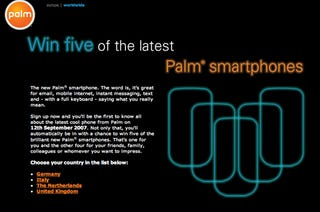 Illustration for article titled Palm Teaser Page Says Something This Way Cometh