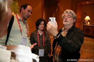 Illustration for article titled George Lucas Shooting Star Wars Ep 7 At D5 Party?