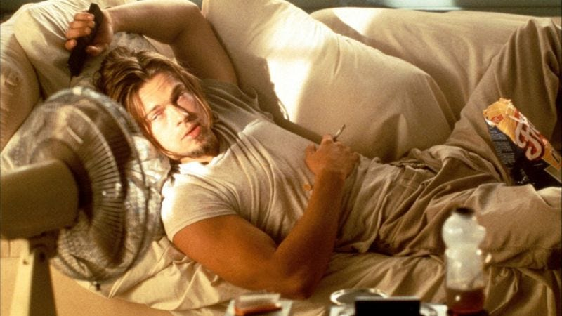 Brad Pitt in True Romance. This is not you, nor will it ever be you, '90s kid.