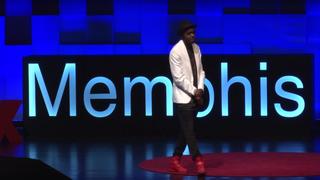 Marco Pavé giving a TEDx talk in Memphis, Tenn., in September 2015YouTube screenshot