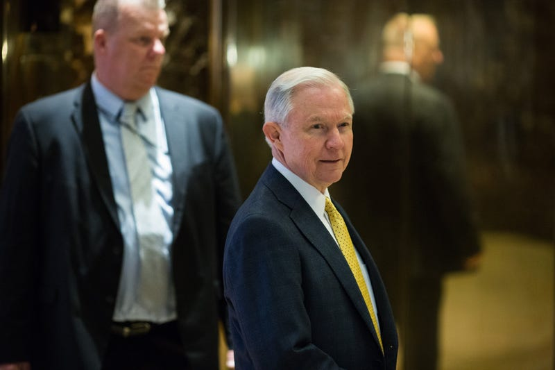 Republican Alabama Sen. Jeff Sessions arrives at Trump Tower in New York City on Nov. 16, 2016.Kevin Hagen/Getty Images