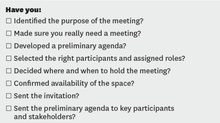 Illustration for article titled This Checklist Makes Sure Your Next Meeting is Productive One