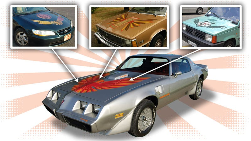 Illustration for article titled Here Are Ten Cars That Deserved 'Screaming Chicken' Firebird-Style Hood Decals
