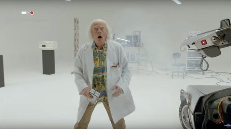Illustration for article titled Christopher Lloyd made a short film about Doc Brown