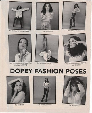 Illustration for article titled Timeless: The Model's Guide To Dopey Fashion Poses