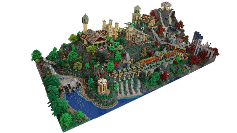 Illustration for article titled They Should Have Filmed The Hobbit in This 200,000 Brick Lego Rivendell