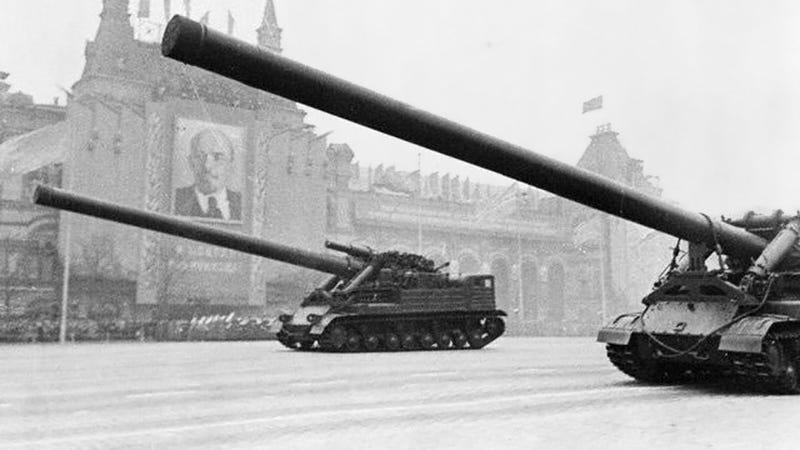 ... of artillery. It turns out that the Russians built a nuclear gun, too