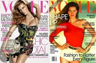 Illustration for article titled Gisele's Legs Still Glued Together On Mag Covers; More Met Ball Gossip