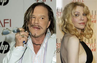 Illustration for article titled Mickey Rourke & Courtney Love: New Couple?