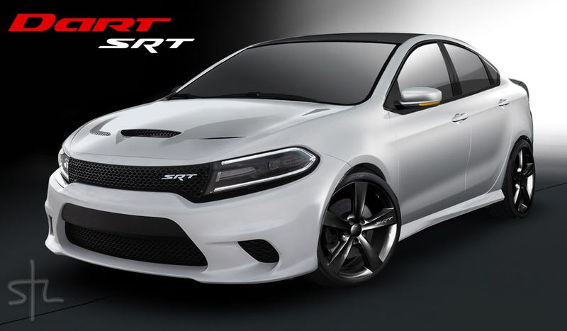 Srt Dodge Dart >> The Dodge Dart Srt Should Look Like This Baby Hellcat Render