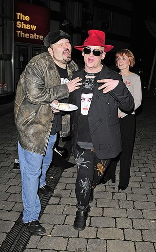 Illustration for article titled Boy George Has His Cake And Eats It Too