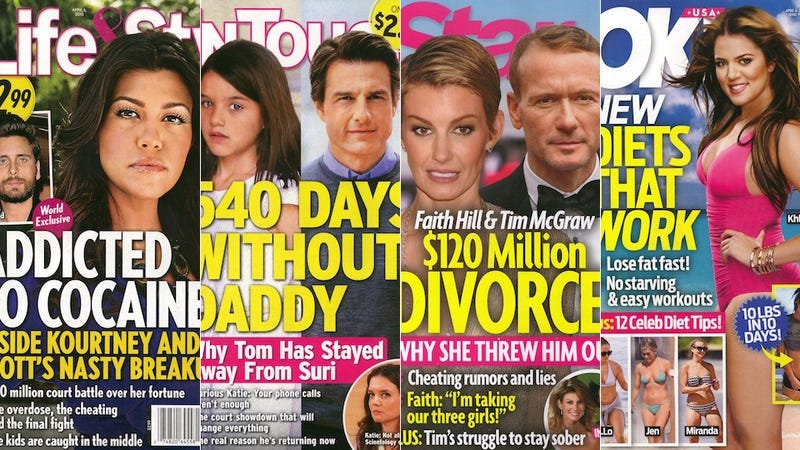 Illustration for article titled This Week in Tabloids: Tom Cruise Hasn't Seen Suri in 540 Days