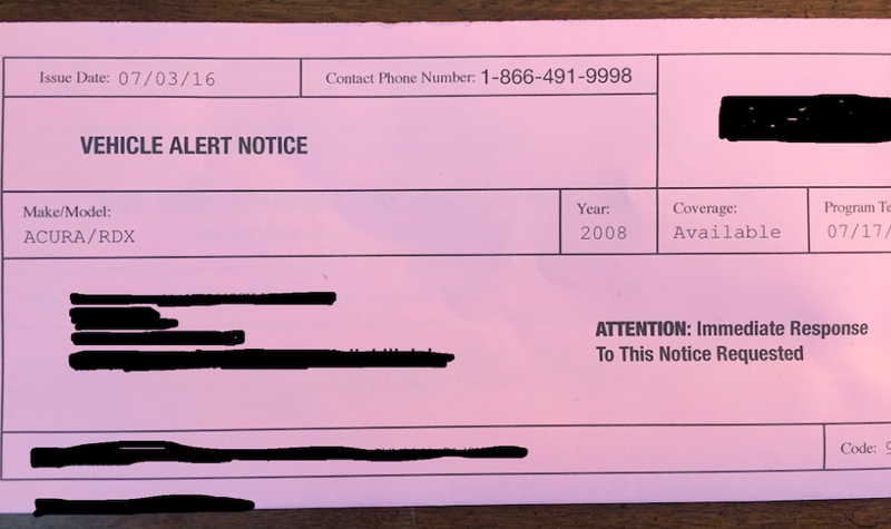 The Truth About The Warranty Expiration Notices You Get In The Mail - Acura extended warranty cost