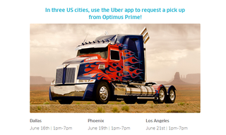 Illustration for article titled How To Use Uber To Get A Ride From Optimus Prime