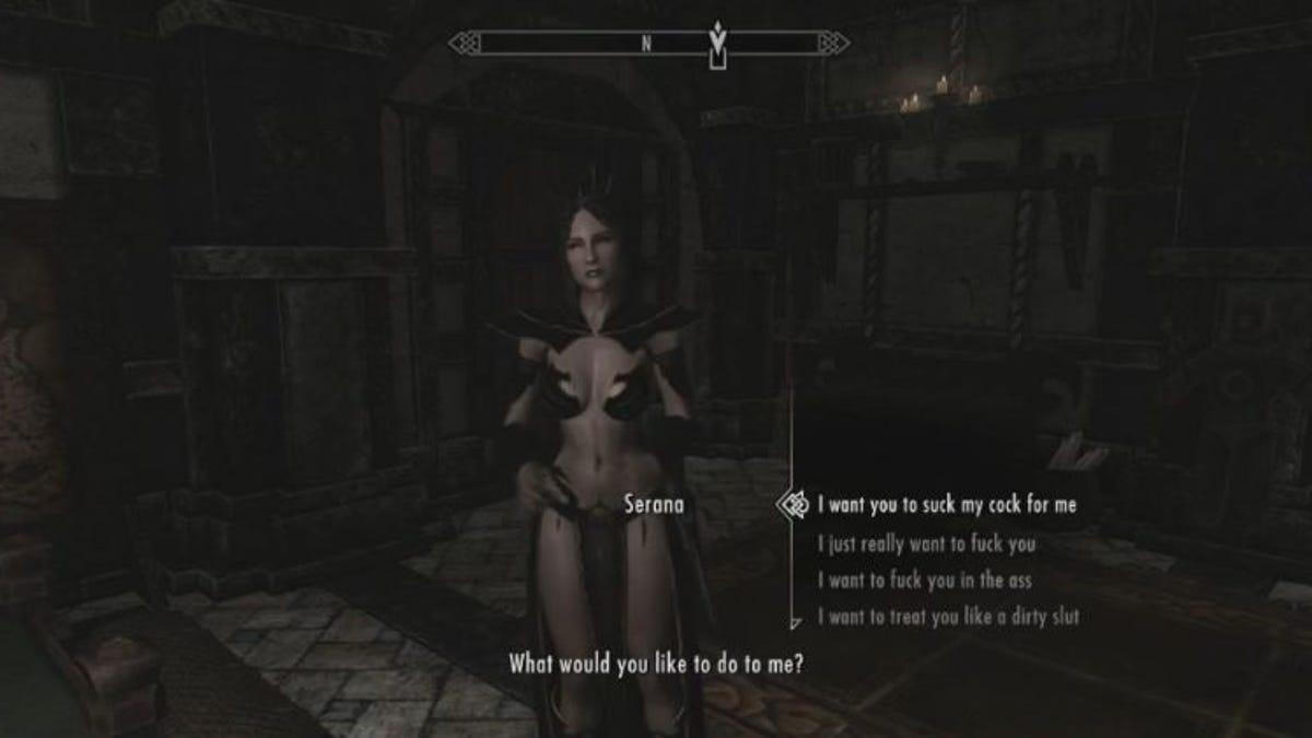 Skyrim секс с сераной видео