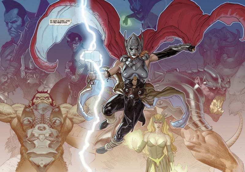 Illustration for article titled The New Female Thor Continues an Excellent Run of Thunder God Comics