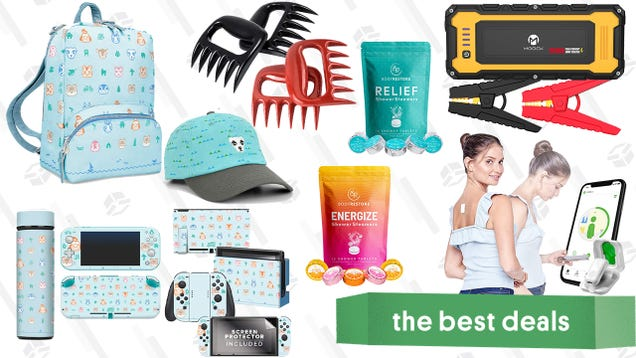 Saturday s Best Deals: Animal Crossing Gift Bundle, Shredding Meat Claws, Moock Jump Starter, Soothing Shower Steamers, Posture Trainer, and More