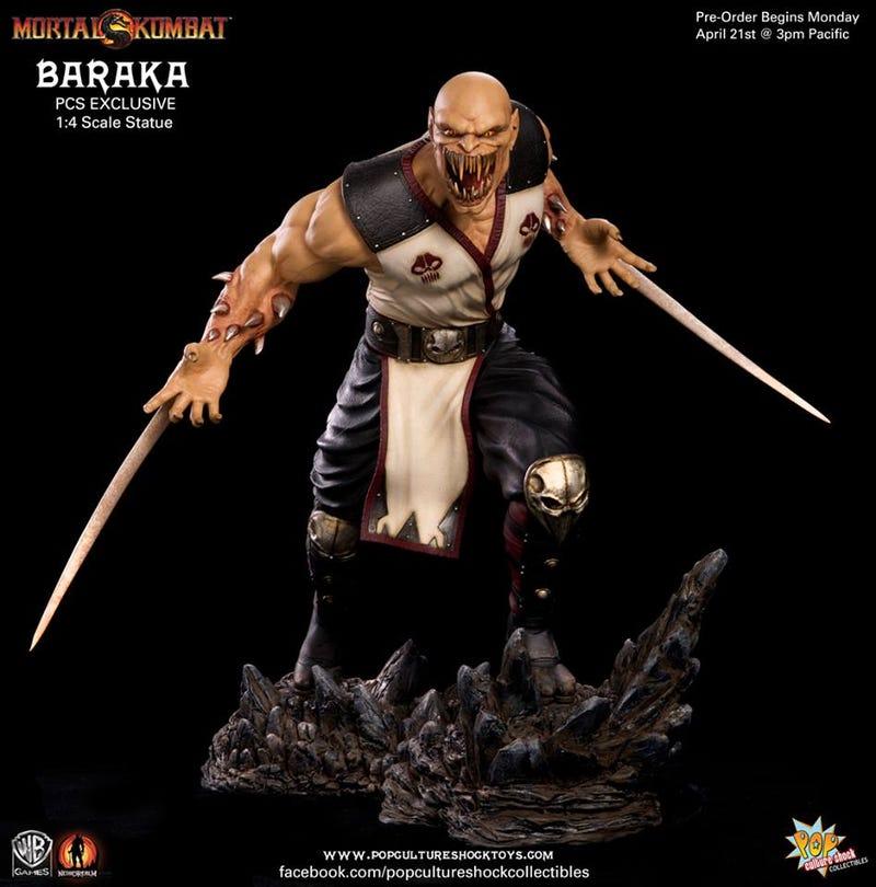 Illustration for article titled Mortal Kombat Baraka Sculpture