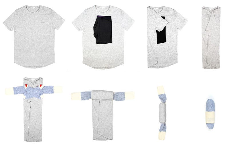 Illustration for article titled The Skivvy Roll Packs Your Basic Clothing Into One Simple Ball