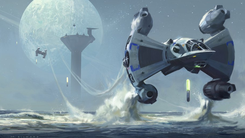 Concept art for a new Last Starfighter released by Gary Whitta today.